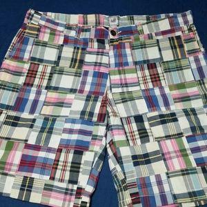 JC Penney brand plaid madras shorts size 36.